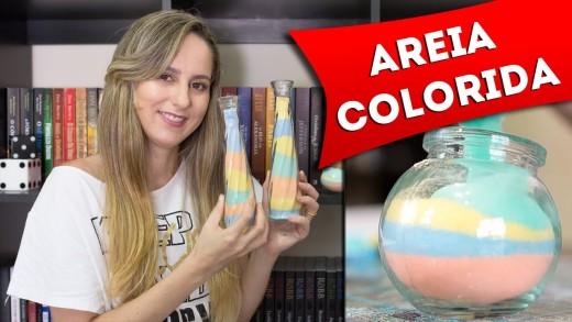 DIY: Como Fazer Areia Colorida para Decorar Potes e Garrafas – Artesanato – Faça Você Mesmo