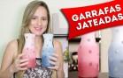 DIY: Garrafas Decoradas com Jateado Colorido no Vidro – Artesanato, Faça Você Mesmo